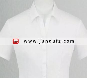 女士白色短袖衬衫定制