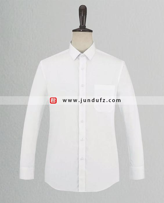 男士白色长袖衬衫定制