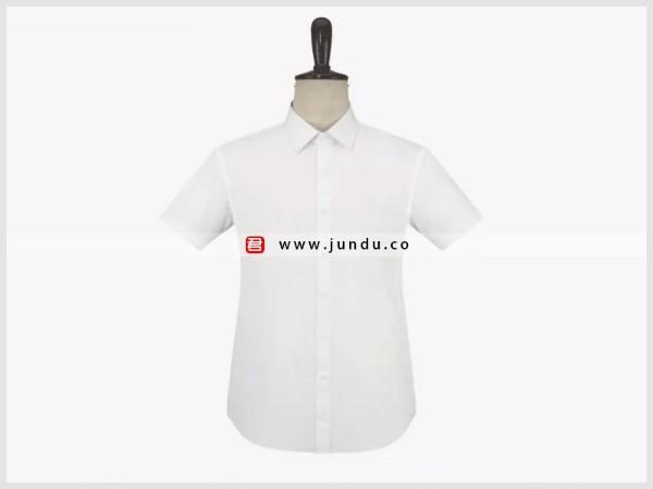 男士白色短袖衬衫定制