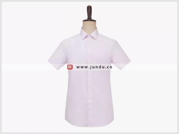 男士粉色短袖衬衫定制