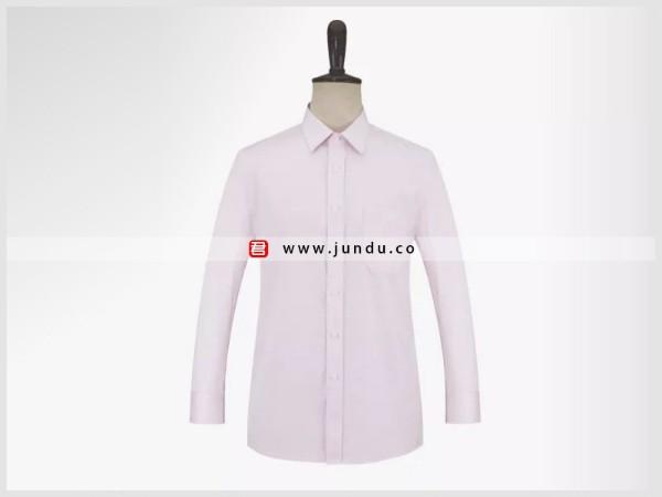 男士粉色长袖衬衫定制