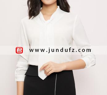 飘带经典衬衫+小众设计款西裙套装定制