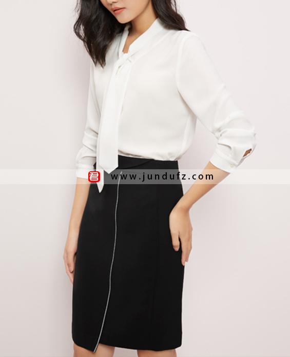 飘带经典衬衫+小众设计款西裙套装定制展示图