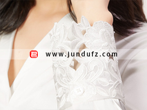 高端刺绣蕾丝衬衫袖口细节