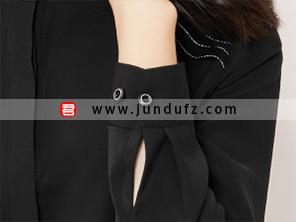 小立领高端衬衫袖口细节