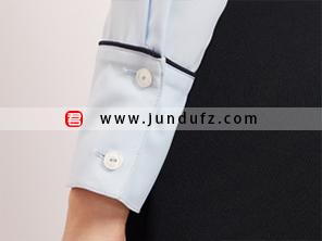 滚条小翻领衬衫袖口细节