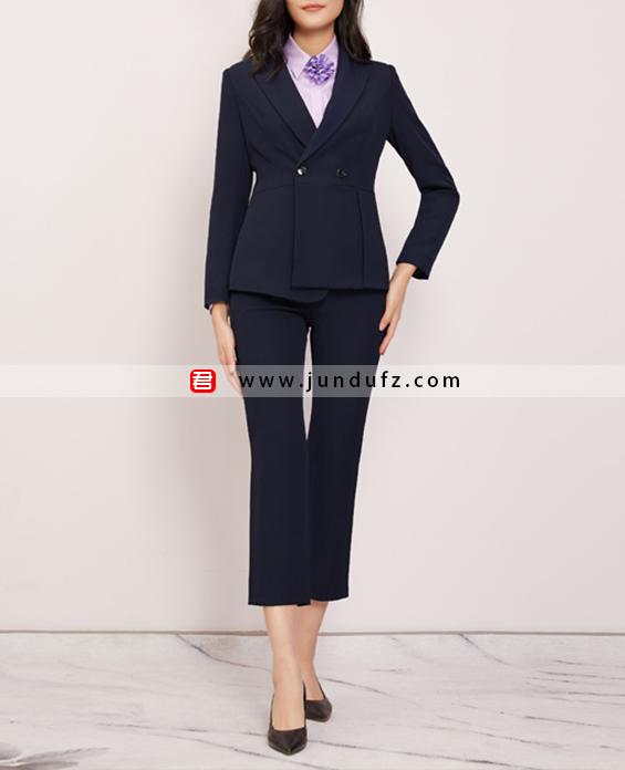 不对称收腰韩版西装三件套套装定制展示图