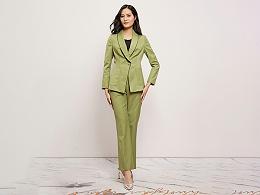 女绿色西服定制