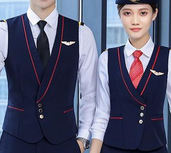 航空公司空姐空少制服套装定制图片