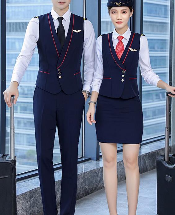 航空公司空姐空少制服套装定制展示图