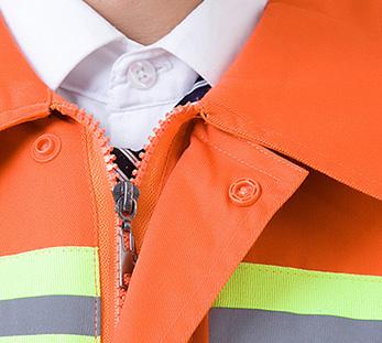 橙色环卫工清洁服工作服定制图片