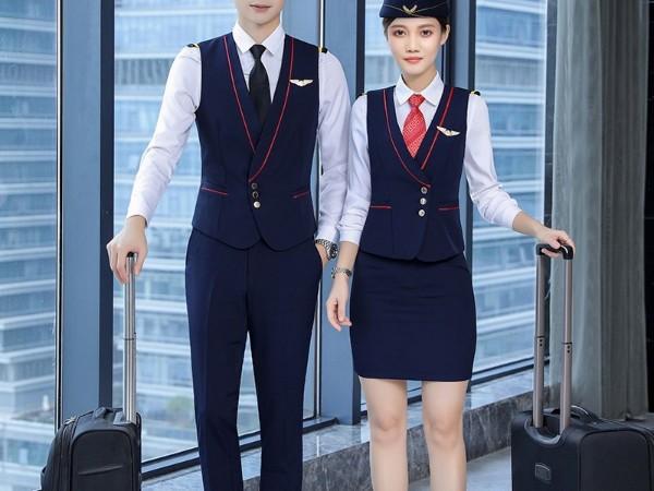 航空公司空姐空少制服套装定制