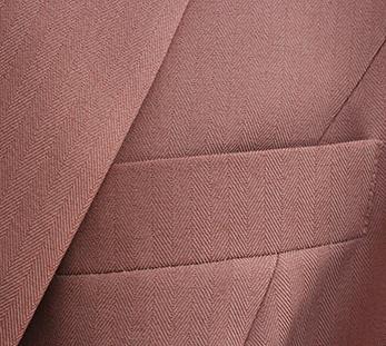 女粉色双排扣西服定制图片