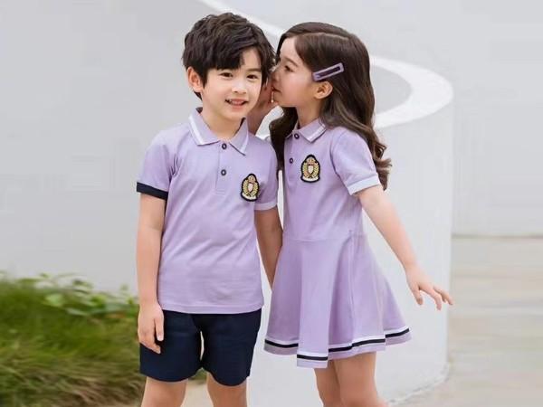紫色款小学生校服定制