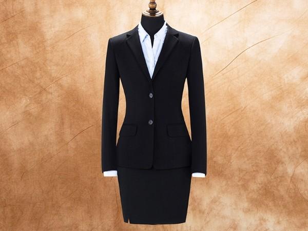 女两粒扣显瘦西服职业装套装定制