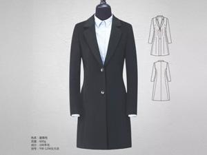 女黑色职业裙定制细节2