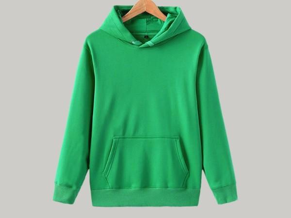 绿色连帽套头卫衣定制