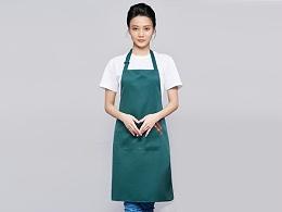 咖啡奶茶店围裙工作服定制-WQ0841