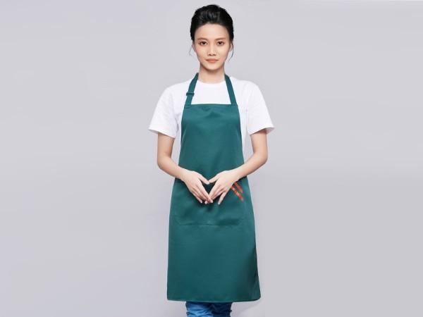 绿色咖啡奶茶店围裙工作服定制
