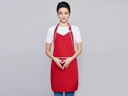 咖啡奶茶店围裙工作服定制