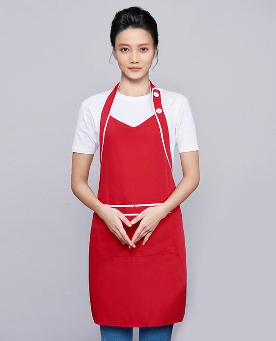 咖啡奶茶店围裙工作服定制展示图