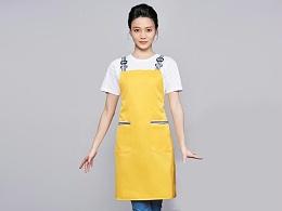 咖啡奶茶店围裙工作服定制-WQ0843