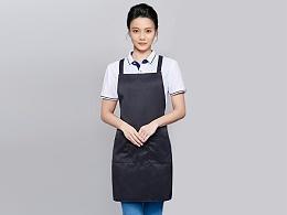 咖啡奶茶店围裙工作服定制-WQ0844