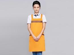 咖啡奶茶店围裙工作服定制-WQ0845
