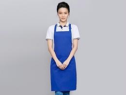 咖啡奶茶店围裙工作服定制-WQ0846