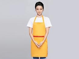 咖啡奶茶店围裙工作服定制-WQ0847
