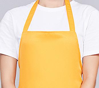 黄色咖啡奶茶店围裙工作服定制图片