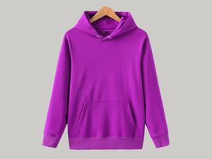 紫色卫衣定制