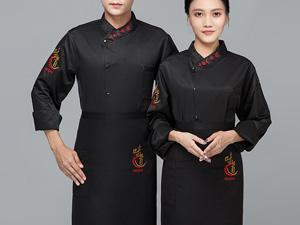 黑色餐厅厨师工作服定制