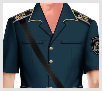 藏青色短袖物业管理安保服定制图片