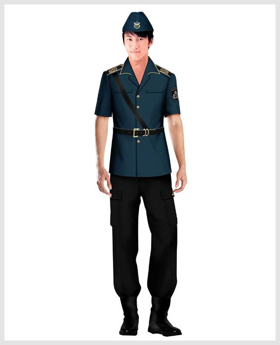 藏青色短袖物业管理安保服定制展示图