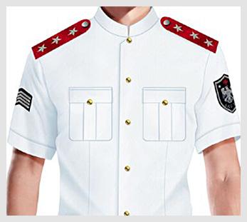 白色短袖衬衫物业管理安保服图片