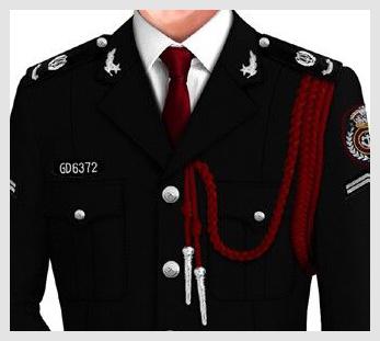 黑色物业管理安保服套装定制