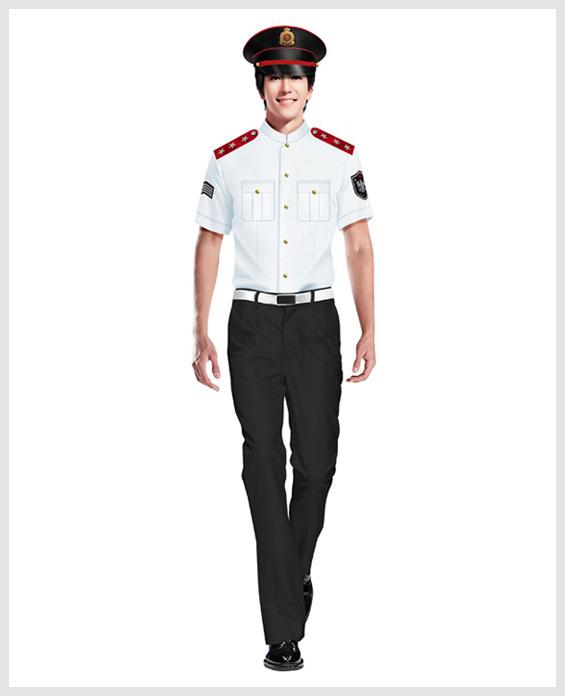 白色短袖衬衫物业管理安保服定制展示图