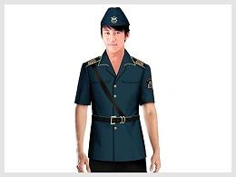 藏青色短袖物业管理安保服定制