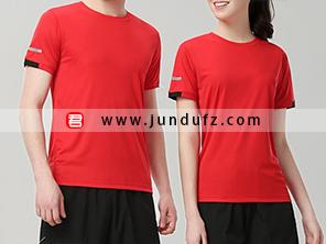 红色企业团体文化衫T恤定制