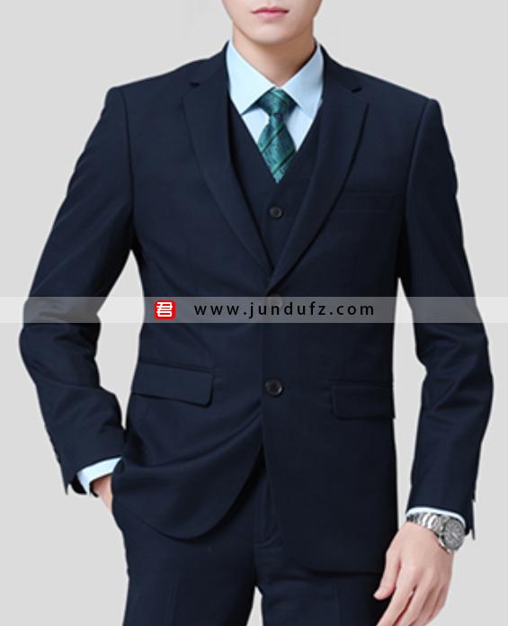 男士西装四件套职业装定制展示图