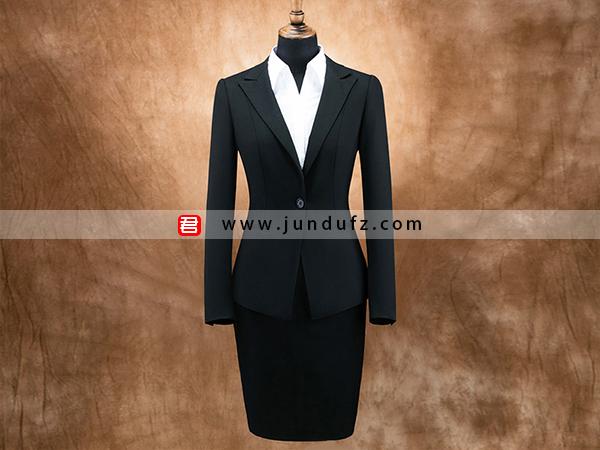 女单扣显瘦西服职业装套装定制