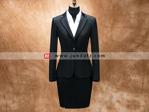 女气质显瘦一粒扣西服职业装套装定制