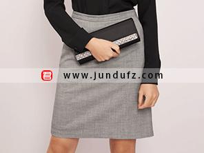 灰色小A裙效果图