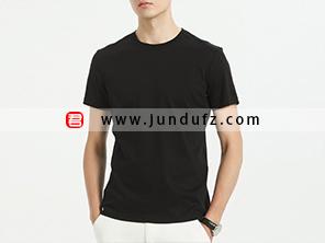 男士黑色文化衫T恤定制