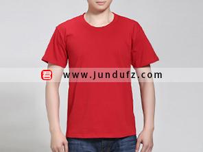 男士红色文化衫T恤定制