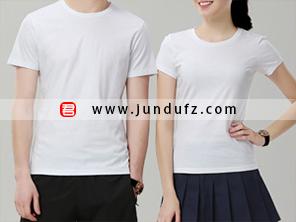 白色企业团体文化衫T恤定制
