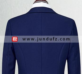 女深蓝色西服职业装套装定制图片