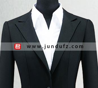 女单扣显瘦西服职业装套装定制图片