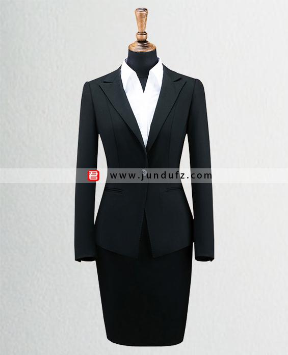 女单扣显瘦西服职业装套装定制展示图